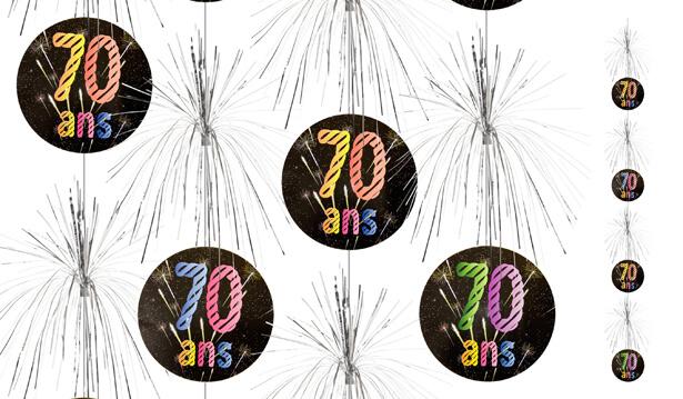 Suspension cascade anniversaire 70ans