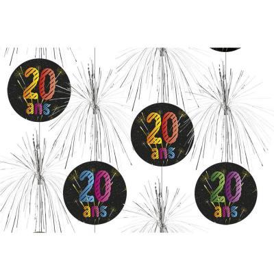 Suspension cascade anniversaire 20ans (x1) REF/AA2011CH/20
