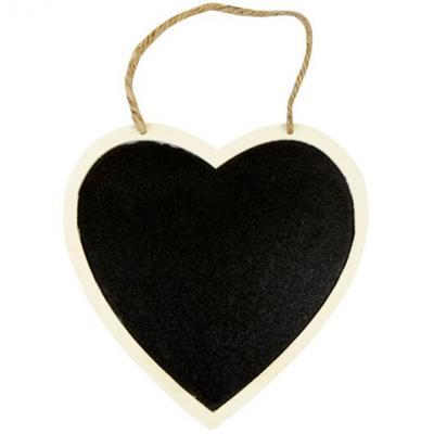Mariage: Coeur ardoise à suspendre 16cm (x1) REF/DEK0052