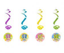 Suspension spirale anniversaire 18ans (x4) REF/AA1010PP/18