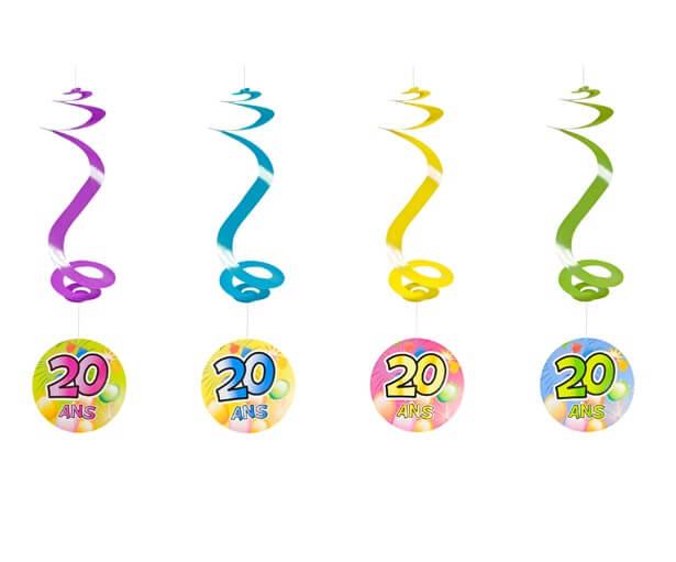 Suspension spirale anniversaire 20ans