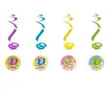Suspension spirale anniversaire 20ans (x4) REF/AA1010PP/20