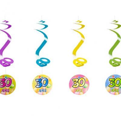 Suspension spirale anniversaire 30ans (x4) REF/AA1010PP/30