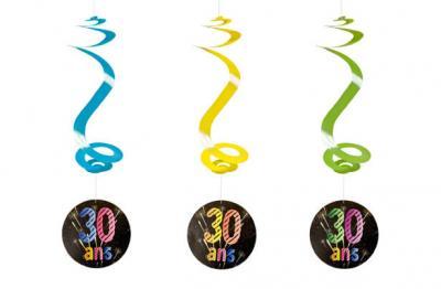 Suspension spirale anniversaire 30ans (x4) REF/AA2010CH/30