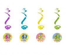 Suspension spirale anniversaire 40ans (x4) REF/AA1010PP/40