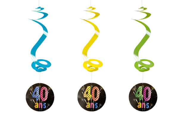 Suspension spirale anniversaire 40ans