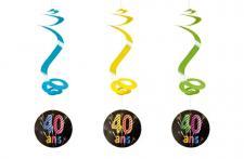 Suspension spirale anniversaire 40ans (x4) REF/AA2010CH/40