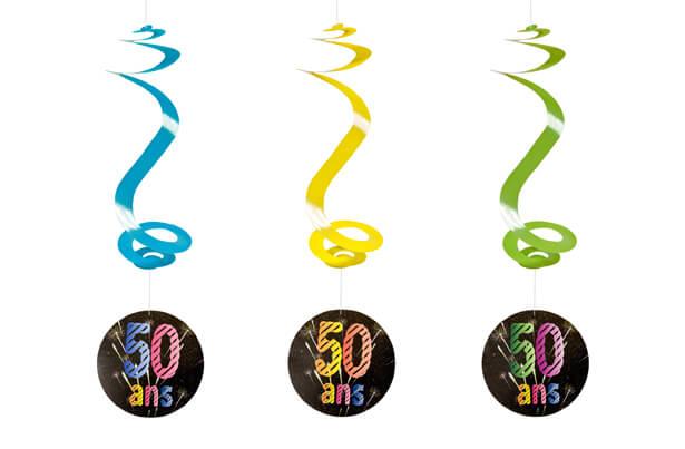 Suspension spirale anniversaire 50ans