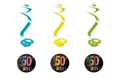 Suspension spirale anniversaire 50ans (x4) REF/AA2010CH/50