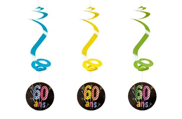 Suspension spirale anniversaire 60ans