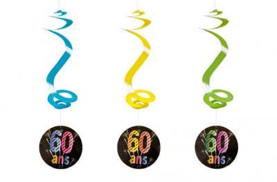 Suspension spirale anniversaire 60ans (x4) REF/AA2010CH/60