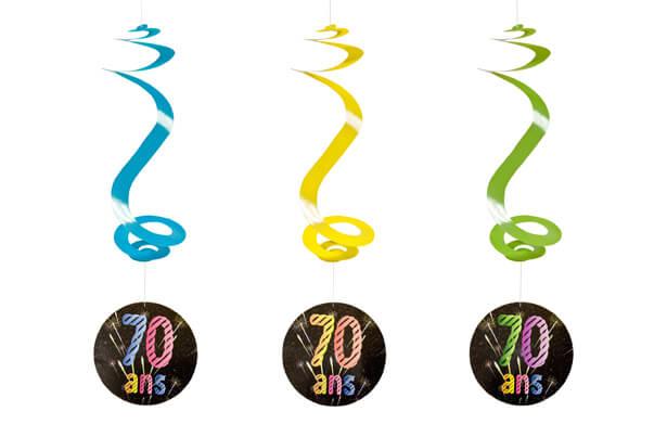 Suspension spirale anniversaire 70ans