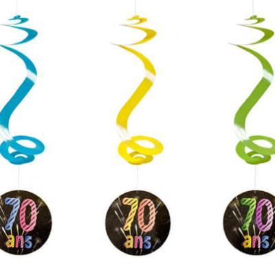 Suspension spirale anniversaire 70ans (x4) REF/AA2010CH/70