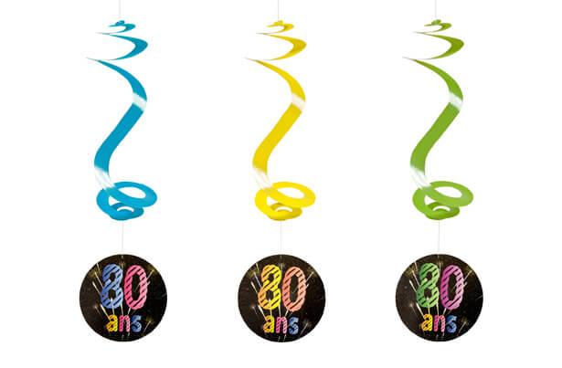 Suspension spirale anniversaire 80ans