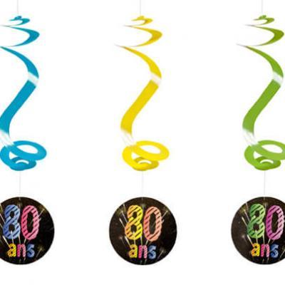 Suspension spirale anniversaire 80ans (x4) REF/AA2010CH/80