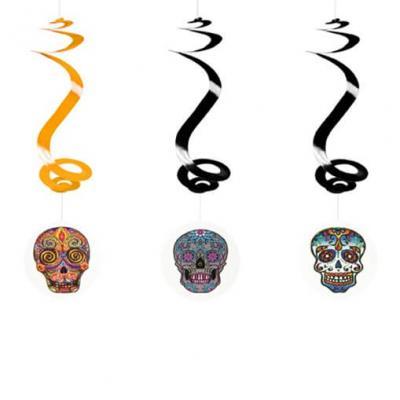 Suspension Halloween: Têtes mexicaines (x3) REF/DEC793