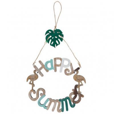 Suspension tropicale en bois: Happy Summer (x1) REF/6377