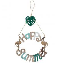 Suspension tropicale en bois: Happy Summer (x1) REF/6377