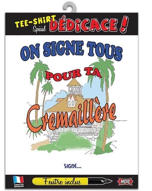 T shirt dedicace cremaillere