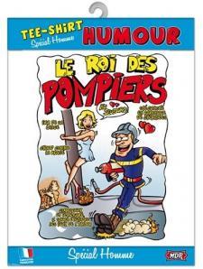 T-shirt homme humour: Pompier (x1) REF/TSHS227