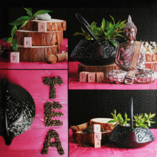 Tableau buddha-tea fuchsia (x1)