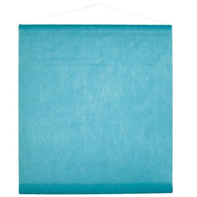 Tenture décorative de salle bleu turquoise 80cm x 12m (x1) REF/2933
