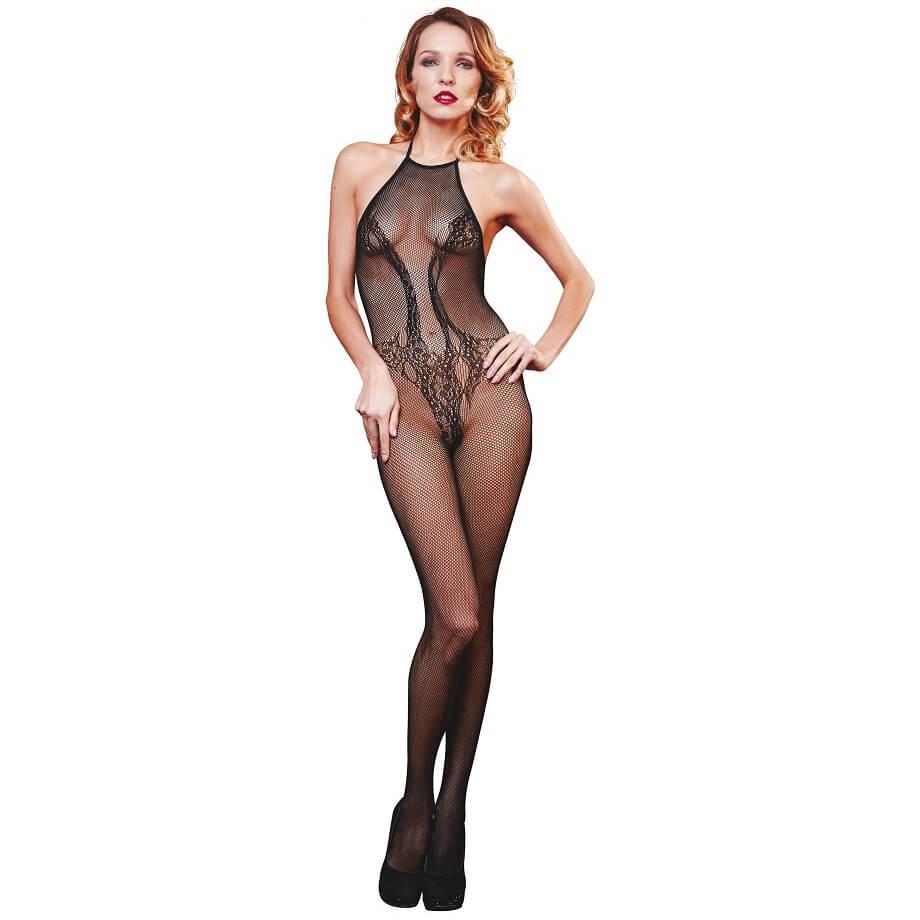 Tenue body sexy noir pour femme
