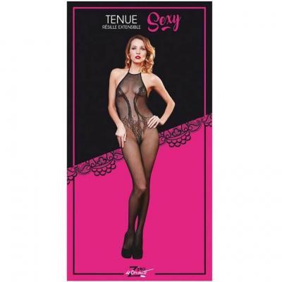 Tenue sexy body noire en résille pour lingerie femme (x1) REF/SEXR014