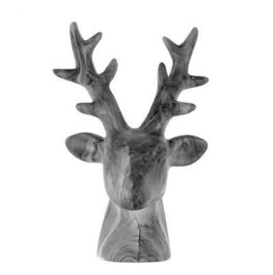 Tête de cerf grise (x1) REF/5482