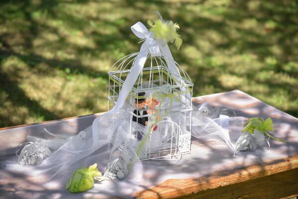Tirelire cage blanche 5