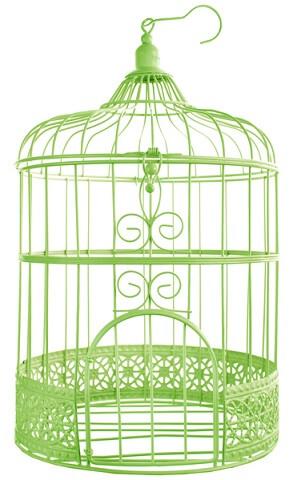 Tirelire cage verte