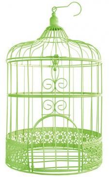 Tirelire cage verte (x1) REF/3871