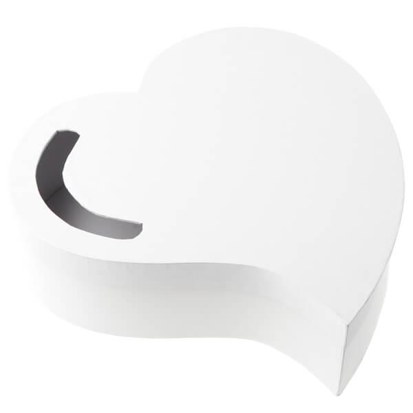 Tirelire urne mariage blanche coeur