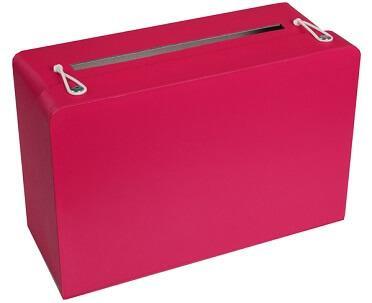 Tirelire valise fuchsia (x1) REF/5092