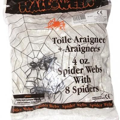 Toile d'araignée de 113grs + 8 araignées (x1) REF/32000