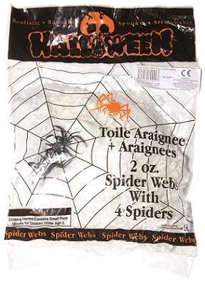 Toile d'araignée de 56g + 4 araignées (x1) REF/30000
