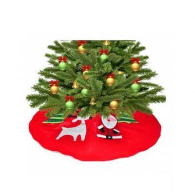 Tour de sapin de Noël rouge de 90cm (x1) REF/NUH302