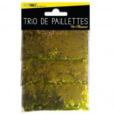 Trio de paillettes or