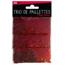 Trio de paillettes rouge (x1) REF/TP00R