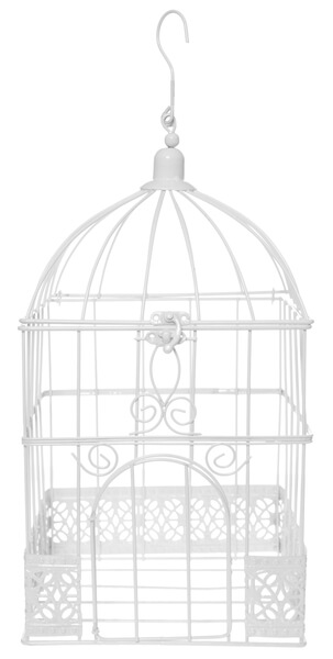 Urne cage carree blanche