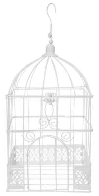 Urne cage carrée blanche (x1) REF/5313