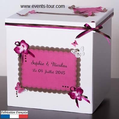 Urne personnalisée papillon et orchidée (x1) REF/10083