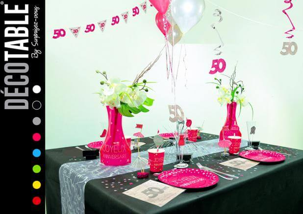 Vase anniversaire rose