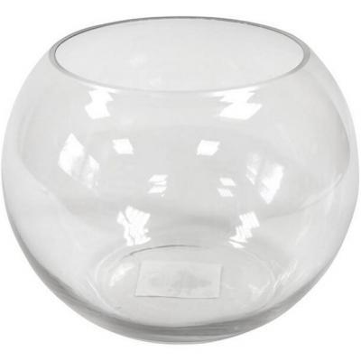 Vase: Bocal en verre transparent 15.5cm (x1) REF/VER3005