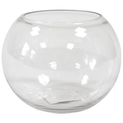 Vase: Boule en verre transparente 9.7cm (x1) REF/VER3003