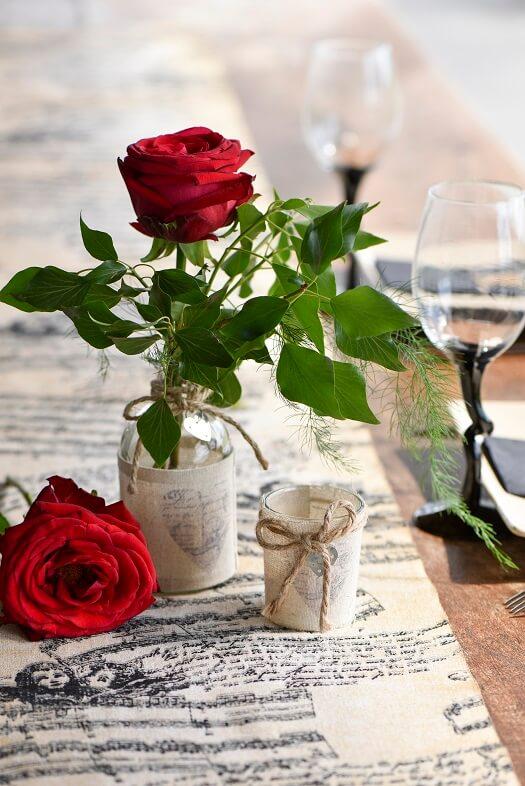 Vase coeur mariage