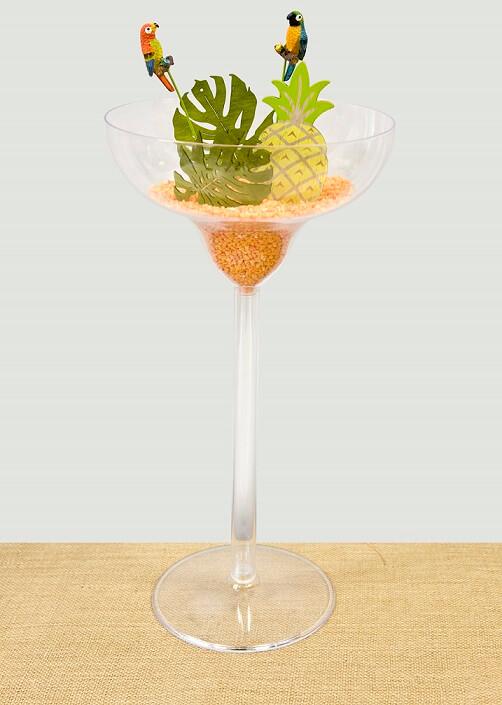 Vase coupe margarita transparente