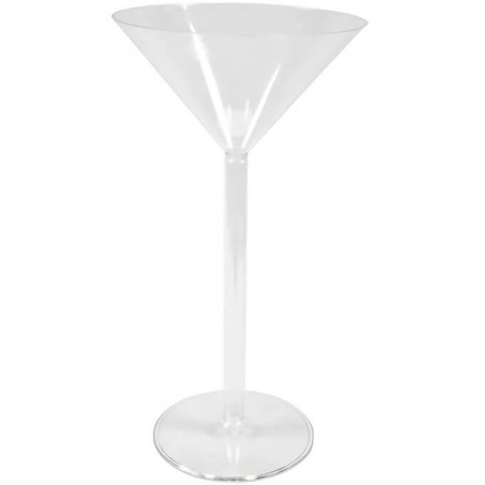 Vase coupe martini transparent