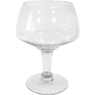 Vase coupe sur pied transparent 27cm (x1) REF/VER3010