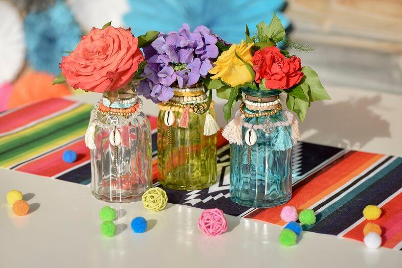 Vase mexicain transparent